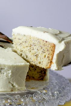 Moist Banana Cake with Cream Cheese Frosting | Art and the Kitchen -This recipe for Banana Cake is my all time favourite. I have been making it for years. It is incredibly moist, flavourful and once you try it you'll agree it the best Banana Cake you've ever had!
