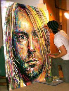 -Art by Cole Kluesner-  L'artiste mélange constamment la bande dessinée et l'art du portrait et apprécie mélanger les matériaux et les styles . Son site: http://colekluesner.com/traditional-art.html
