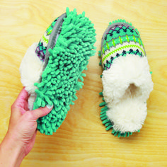 Machine-Washable Dusting Slippers