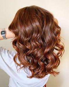 Dark Copper on Wavy Hair