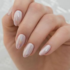 Dani King chooses Semilac manicure for her wedding day | Semilac pearlescent bridal nail manicure | bridemagazine.co.uk