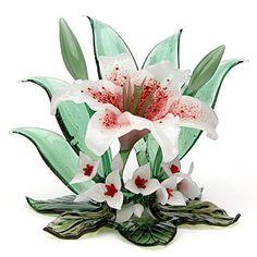 Margaret Neher ~ White Lily oblique view. $825.00.