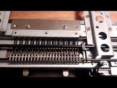 Brother knitting machine punch card reader. - YouTube