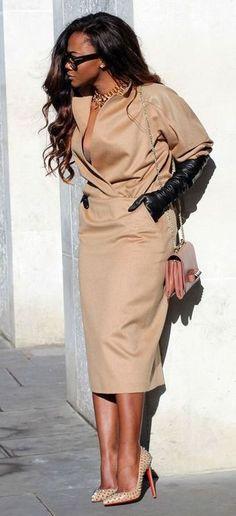khaki suit/dress (snazzy)