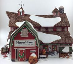Dept 56 New England Village Harper's Farm #56605 W/ Light And Box Christmas