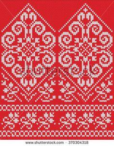 Knitted mittens. Seamless Knitting Pattern Knitted Mittens Pattern, Knit Mittens, Knitted Gloves, Knitting Socks, Knitting Charts, Knitting Stitches, Knitting Patterns, Crochet Patterns, Fair Isle Knitting