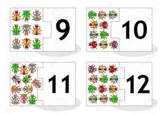 Aprenda Contar Las Cartas Rompecabezas 2part Para Cortar Y Jugar Insectos Y…