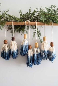 DIY these cute Tassel Ornaments for Christmas tree Super easy to make! is part of Boho christmas tree - Learn how to make these cute DIY BOHO Christmas tassel ornaments for your tree Super easy to make, it can even be a fun craft with kids Diy Christmas Ornaments, Homemade Christmas, Holiday Crafts, Christmas Decorations, Holiday Decor, Christmas Tree, Easy Ornaments, Christmas Quotes, Christmas Pictures