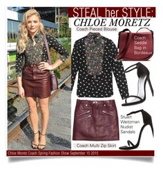 Steal Her Style-Chloe Moretz by kusja on Polyvore featuring polyvore fashion style Coach Stuart Weitzman women's clothing women's fashion women female woman misses juniors Stealherstyle fashionWeek chloemoretz celebstyle