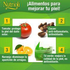 Alimentos para mejorar tu piel.