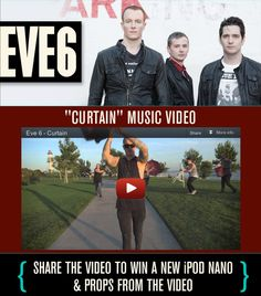 """Help promote the new """"Curtain"""" music video by #Eve6 and win an iPod and other prizes! http://eve6curtain.fearlessrecords.com"""