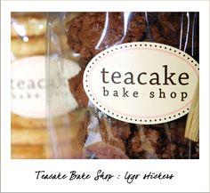 Teacake Bake Shop Logo Stickers - Great idea to make stickers to put on cake boxes, treat bags, etc.