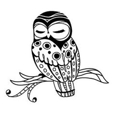 Inkadinkado Mini Acrylic Stamp Sleepy Owl