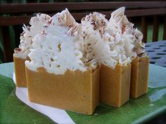 Pumpkin Pie soap from soap-pie.  It's almost too pretty to use!