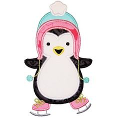 All Appliques - Ice Skating Penguin