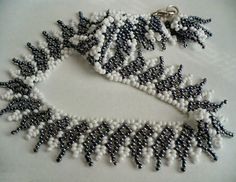 Free pattern for necklace Shade of Grey | Beads Magic