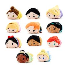 Micro Princess Tsum Tsums Disney Plush, Disney Tsum Tsum, Figurine Disney, Tsum Tsums, Disney Princess Dresses, Disney Addict, Disney Bound, Princesas Disney, Disney Stuff