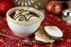 S'mores Hot Chocolate | Our Best Bites   I made this for our family and we enjoyed it! It was work, however now that I've done it it should be easier next time!? YUMMY!