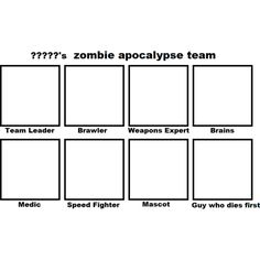 Zombie apocalypse team template by aeleks-d58de96.png ❤ liked on Polyvore featuring templates and drawings