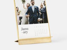 Gift an Artifact Uprising photo desk calendar made from solid brass with premium quality papers. This year, wrap up something meaningful. Photo Desk Calendar, Custom Photo Calendar, Custom Photo Albums, Custom Photo Books, Wooden Calendar, Photo Thank You Cards, Photo Cards, Photo Book Printing, Mobile Photography Tips