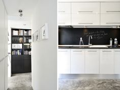 Cadres white on white biblioth que bien cal e - Credence pour cuisine blanche ...