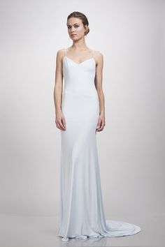 Theia Bridal Ivy Wedding Dress in Cloud Blue