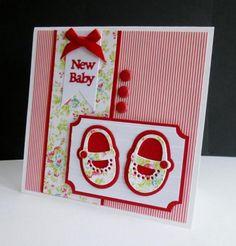 Floral Baby Shoes by sistersandie - Cards and Paper Crafts at Splitcoaststampers