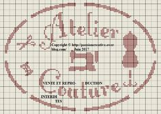 Free cross stitch pattern: Atelier couture 1 - Passion creative