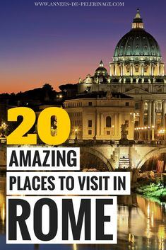 A massive list of the 20 best things to do in Rome 2018. From the Vatican to the Colosseum - this Rome travel guide will provide you with the top points of interest and the best tourist attraction in Rome. Italy's capital has so much to offer. Where to eat, when to visit and where to stay in Rome. Click for more information. #rome #italy #travel #travelguide #europe