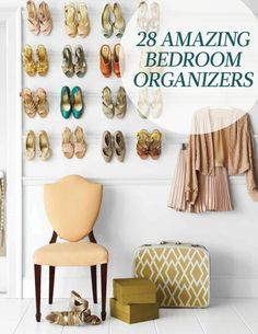 28 Amazing Bedroom Organizers | Martha Stewart Living - Bedrooms are where we go to rest and relax. That can be hard to do if your clothes are strewn all over and your jewelry is tangled. Restore order while maintaining a beautiful space with our easy organizing solutions.