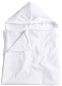 American Terry Co. Velour Kids Hooded Towel - White