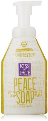 Kiss My Face Peace Soap, Natural Foaming Castile Hand Soap, Lemongrass Clary Sage, *0*