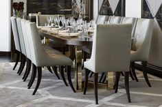 Dining Room, Pavilion - Morpheus London dining room decor ideas, interior design, dining rooms, dining room decor, dining room inspiration, home decor ideas for more inspirations: http://www.bocadolobo.com/en/inspiration-and-ideas/