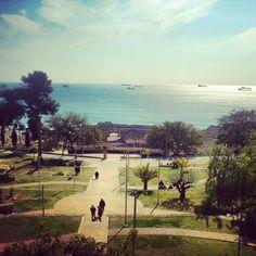La #fotodeldía de hoy es esta imagen de los jardines que conducen al anfiteatro de #Tarraco