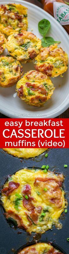 Breakfast Casserole Muffins (VIDEO Recipe)   Natasha's Kitchen   Bloglovin'