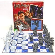 Harry Potter Chess Set based on Harry Potter and the Sorcerers Stone by Deluxe Games and Puzzles @ niftywarehouse.com