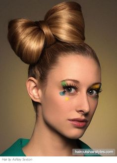 Bow Updo Hair Style