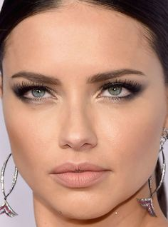 Close-up of Adriana Lima at the 2016 amfAR New York Gala. http://beautyeditor.ca/2016/02/23/amfar-new-york-gala-2016
