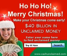 Free Unclaimed Money Search! $40 billion exists in unclaimed money. Search for your unclaimed money for FREE!