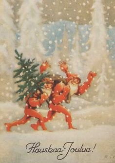 ˇˇ Christmas Cards, Gnomes, Painting, Postcards, Art Ideas, Memories, Artists, Spaces, Costumes