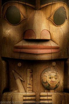 Totem poles in the Sitka National Historic Park. The park preserves and interprets the site of a Tlingit Indian Fort and the battle fought between the Russians and the Tlingits in 1804. ⚪️🔹Inuit / Tlingit / Haida : More At FOSTERGINGER @ Pinterest   🔴🔹