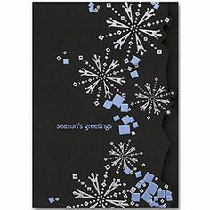Snow Falls Holiday Cards | Snowflake Cards | Deluxe.com