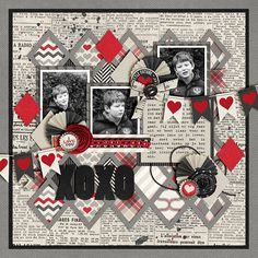 #papercraft #scrapbook #layout   XOXO - Scrapbook.com