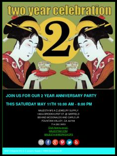 Anniversary Party for the store this Saturday. Here is the info.    Check out this Mad Mimi newsletter