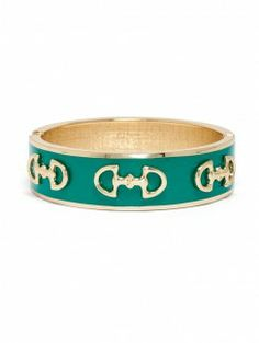 Enamel Equestrian. Don't know if this is a bracelet or a napkin ring, but I would love ir as a bracelet.