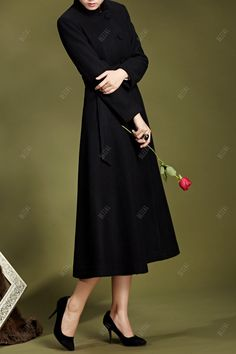 Long Fit and Flare Coat