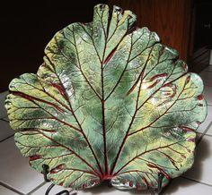 Concrete Rhubarb Leaf Casting by ConcreteImpressions on Etsy, $41.00