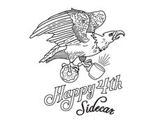 A stamp we're working on for Sidecar Donuts to celebrate 4th of July!