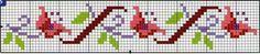 **Blog Amor Perfeito** Gráficos de ponto cruz: Barrado de Flores