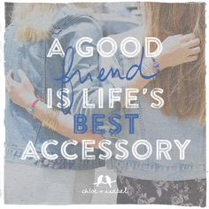 A good friend is life's best accessory. Missed BFF day? Appreciate your BFF every day with Deux Soeurs for Chloe and Isabel - www.chloeandisabel.com/boutique/deuxsoeurs